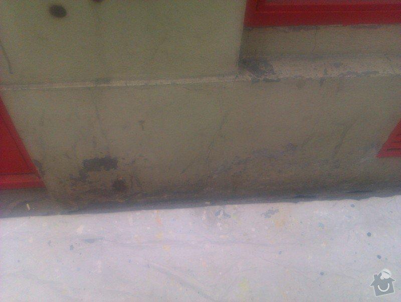 Nátěr fasády s vyspravením podkladu a nátěr výloh: IMAG0064