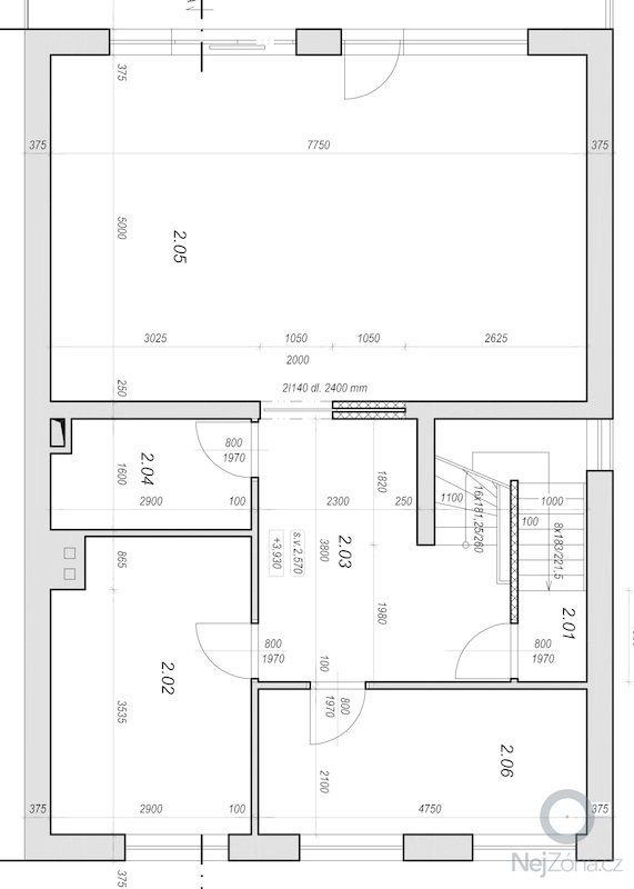 Anhydridová podlaha 100m2 : 2.patro