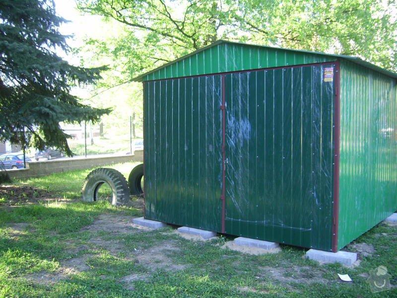 Plechová montovaná garáž: SSA40544