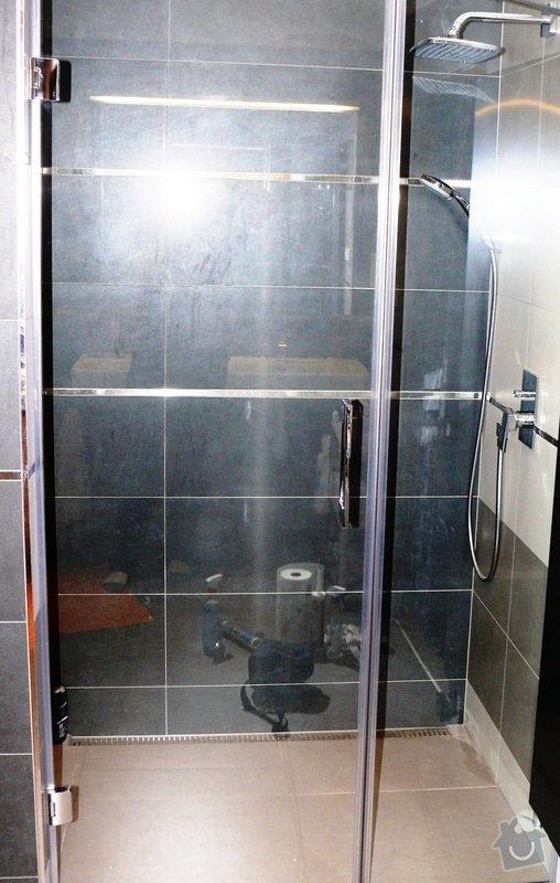 Skleněný sprchový kout + celoskleněné dveře + VIDEO: P1010163