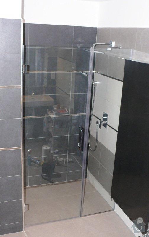 Skleněný sprchový kout + celoskleněné dveře + VIDEO: P1010167