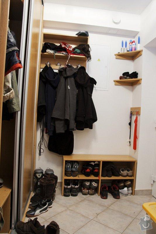 Truhlářské práce - výroba skříně na šanony a botník v předsíni: predsin