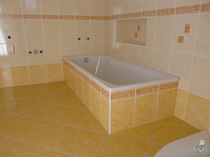 Přestavba koupelny v RD,nové omítky a kompletní obklad v četně dlažby: P1020141