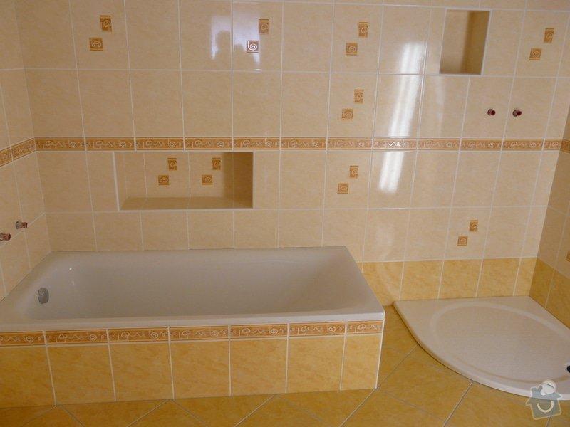 Přestavba koupelny v RD,nové omítky a kompletní obklad v četně dlažby: P1020148