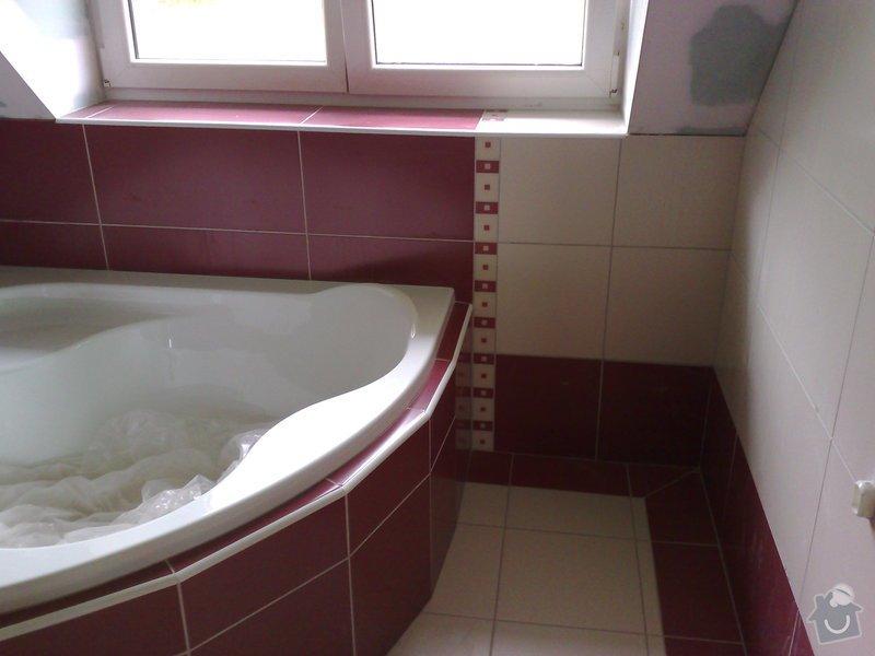 Obkládání koupelny v RD,zazdění vany a dlažba: 18092007198