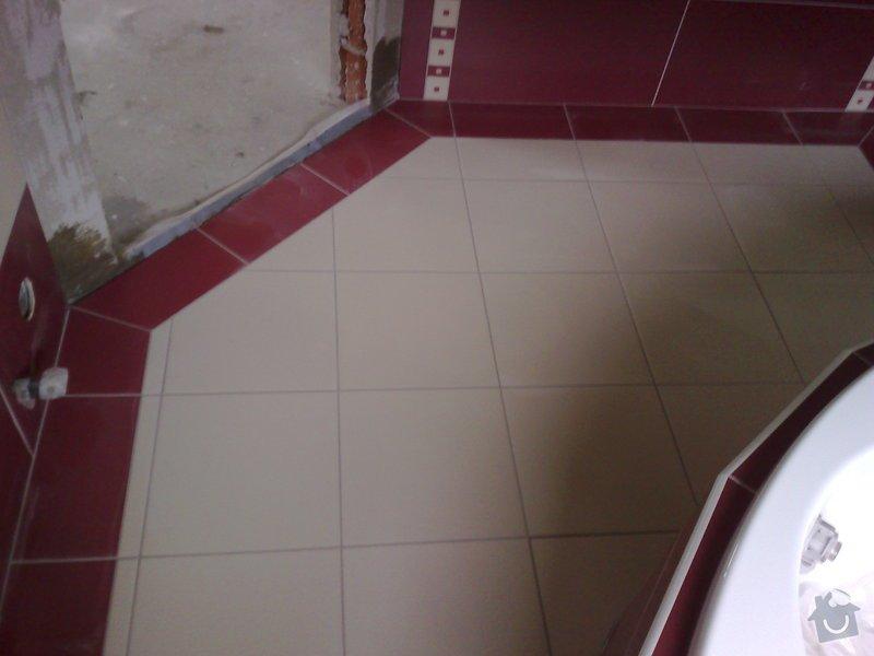 Obkládání koupelny v RD,zazdění vany a dlažba: 18092007203