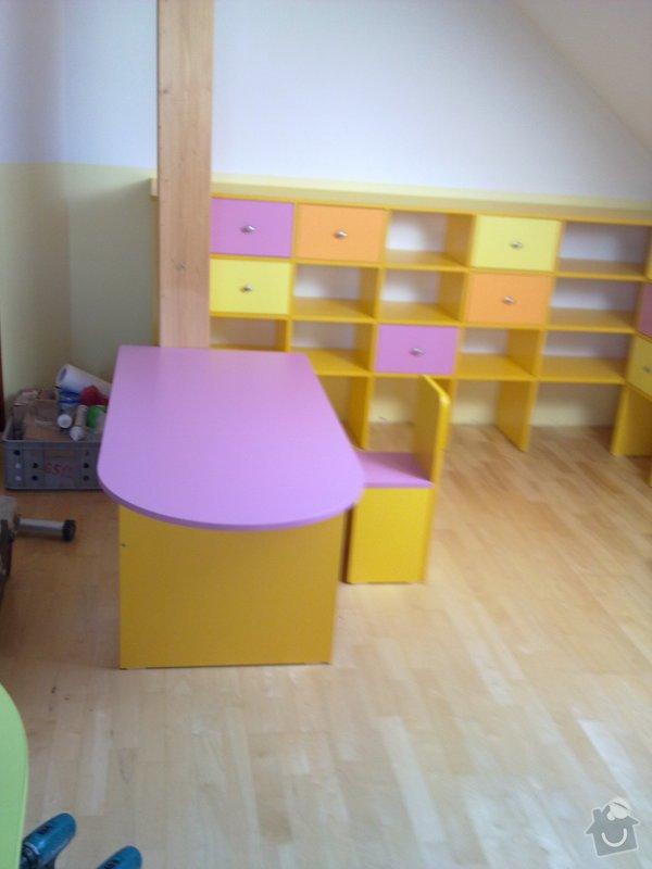 Výroba dětského pokoje, terasy kolem bázenu a nábytku do kanceláře: 16042011105