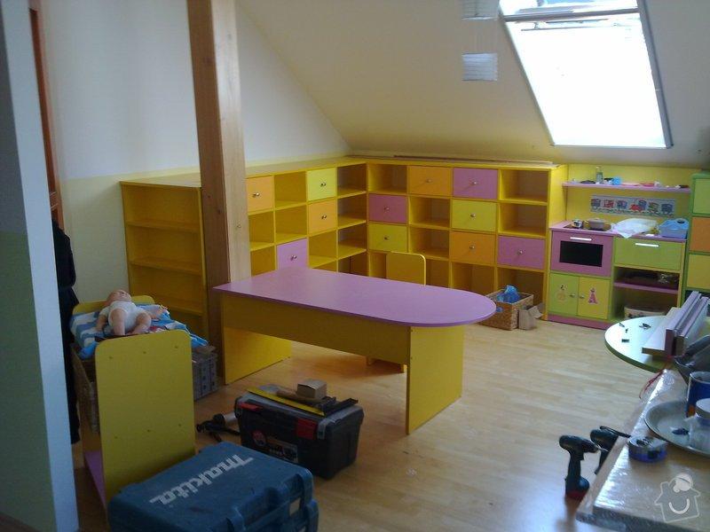 Výroba dětského pokoje, terasy kolem bázenu a nábytku do kanceláře: 16042011106