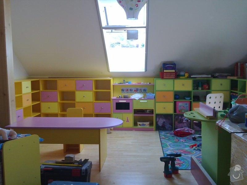 Výroba dětského pokoje, terasy kolem bázenu a nábytku do kanceláře: 16042011107