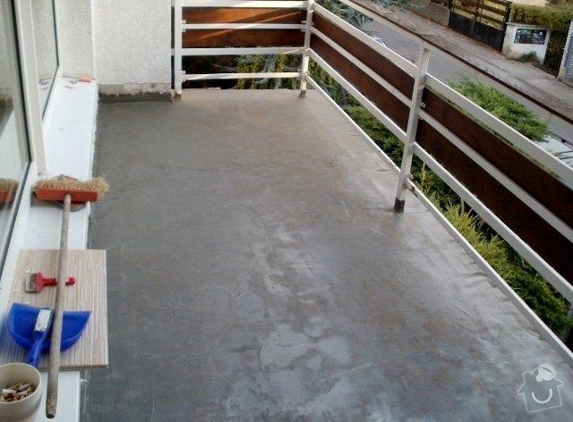 Rekonstrukce dlažby na terase. Odstranění staré dlažby, srovnání, hydroizolační stěrka a pokládka nové dlažby.: PA300226_640x472_