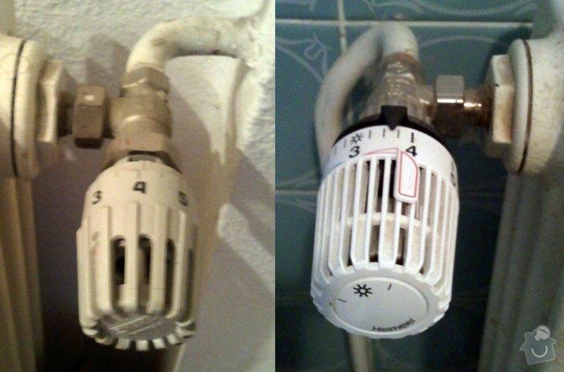 Topení - výměna cirkulalčního čerpadla u plynového kotle a 3 starých regulátorů u topení za nové, termostatické.: Termostaticky_ventil_Heimeier