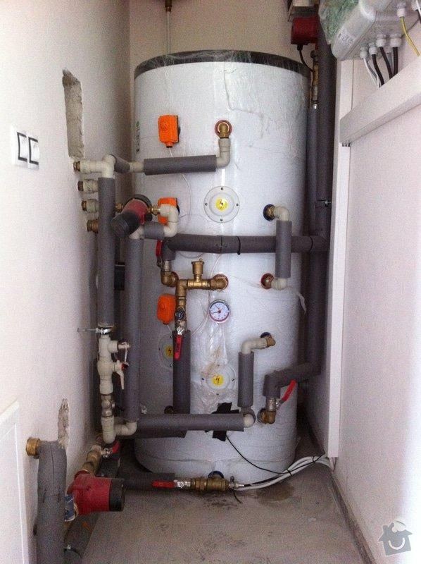 Topenářské práce, podlahové topení včetně položení a dopojení konvektorů: 017