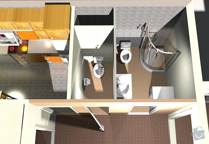 Rekonstrukce bytového jádra: Zvrchu3