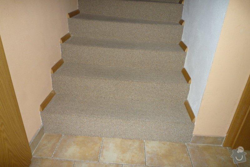 Obložení betonového schodiště + chodby dřevem: P1010524