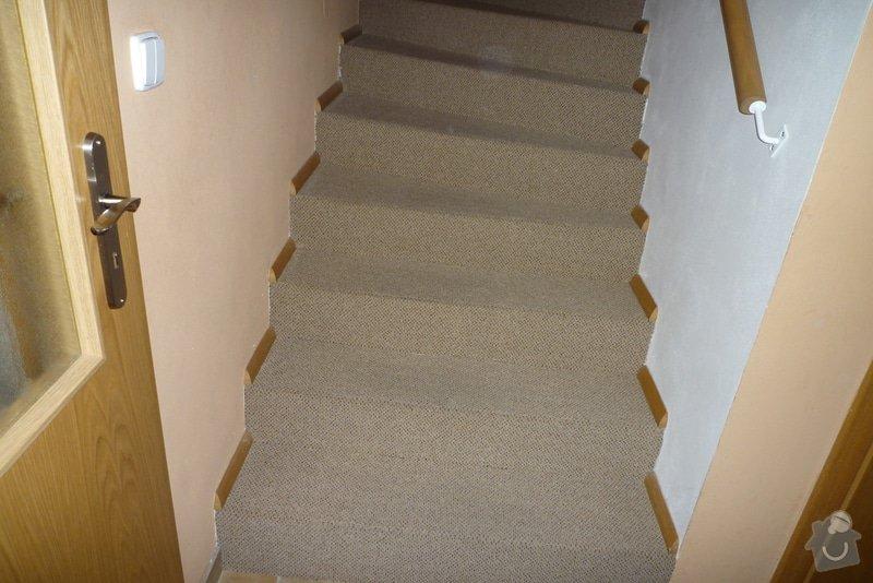 Obložení betonového schodiště + chodby dřevem: P1010518