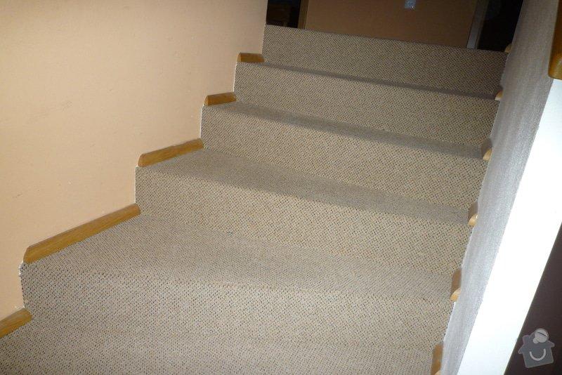 Obložení betonového schodiště + chodby dřevem: P1010520