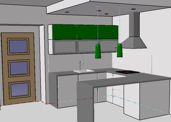 Dodávka a montáž pracovní kuchyňské desky + montáž obkladových panelů.