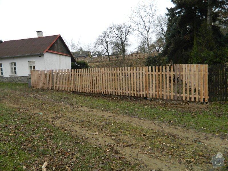 Dřevený chalupářský plot : DSCN1212