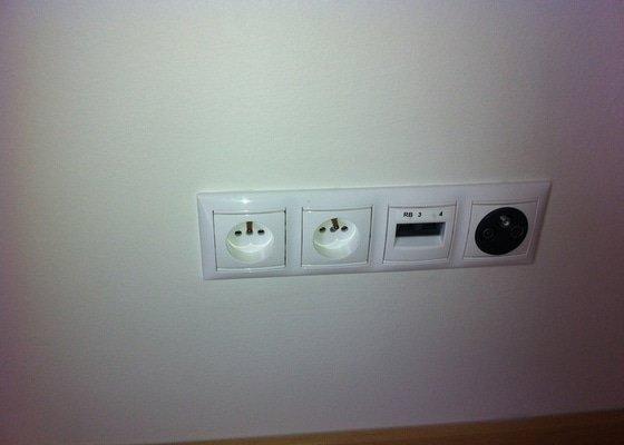 Dotažení elektřiny v bytě - novostavba k připravované lince