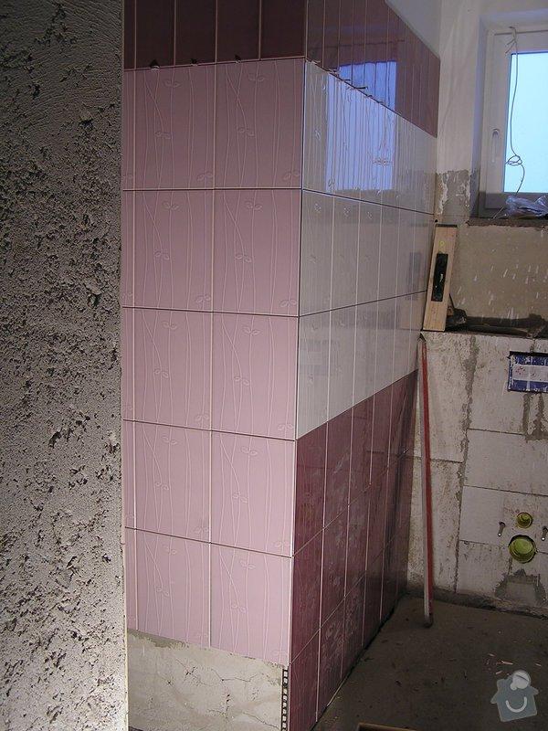 Výstavba dvou koupelen, položení podlah: 0412