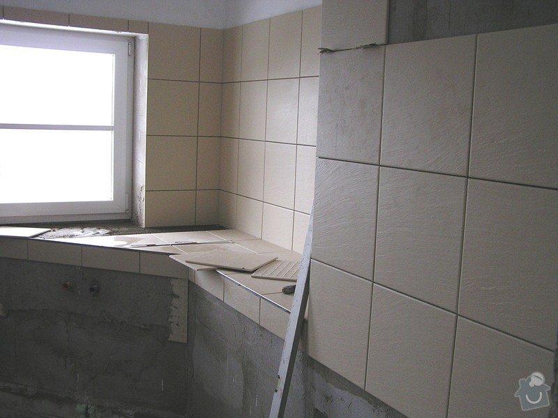 Výstavba dvou koupelen, položení podlah: 0415