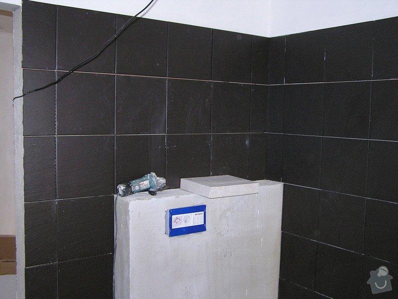 Výstavba dvou koupelen, položení podlah: 0416