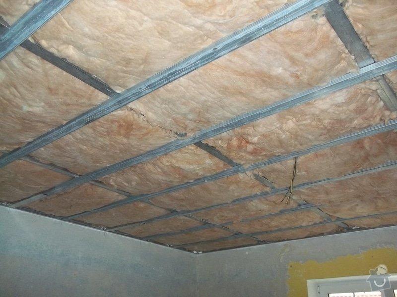 Snížení stropu Sádrokartonem se zateplením cca 20m2 Kladno: 104_1011
