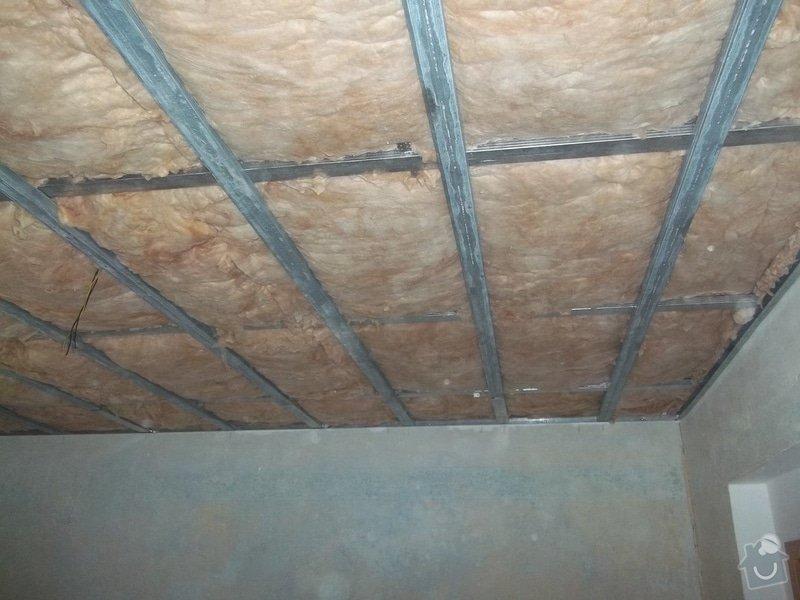 Snížení stropu Sádrokartonem se zateplením cca 20m2 Kladno: 104_1012