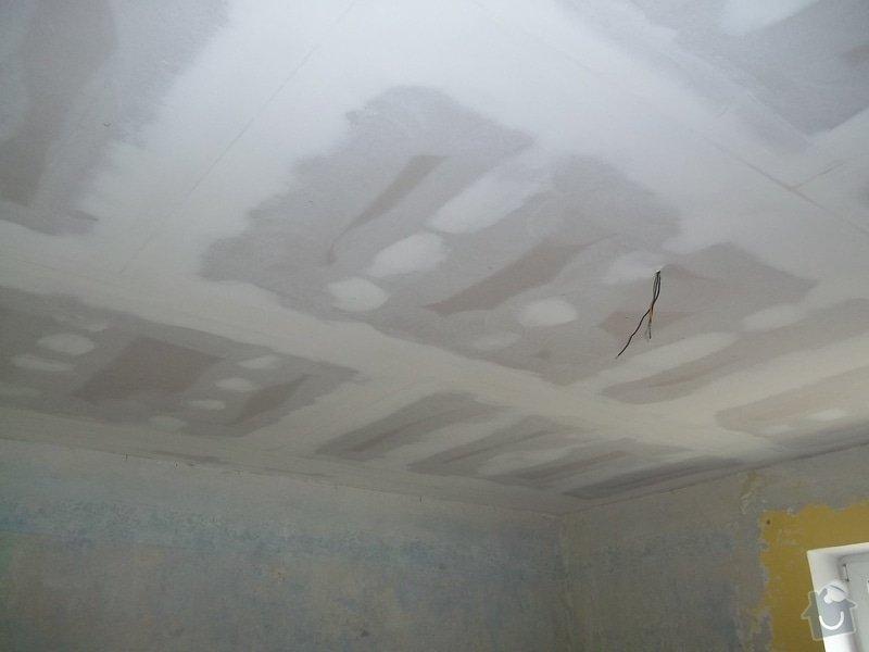 Snížení stropu Sádrokartonem se zateplením cca 20m2 Kladno: 104_1020