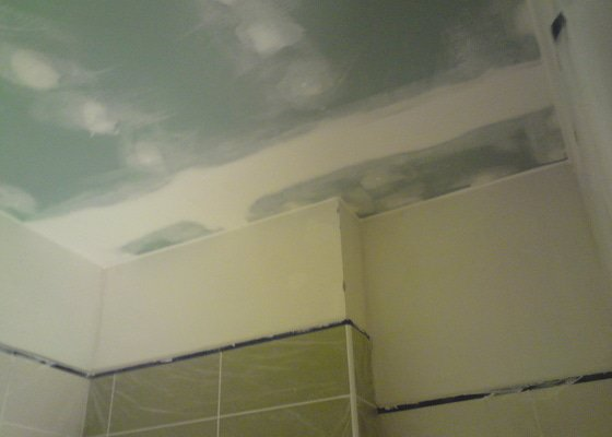 Zateplení a snížení podhledu  v bytě RD