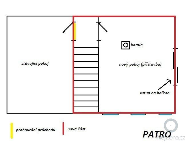 Přístavbu RD: patro
