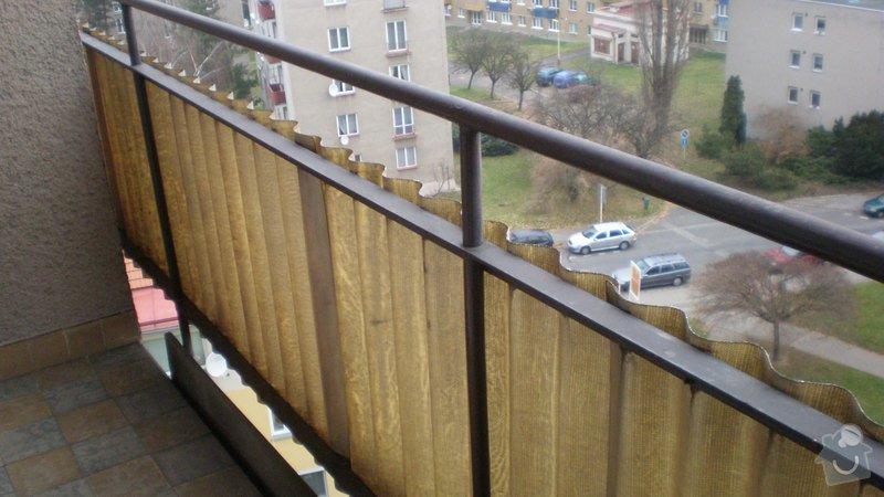 Nátěry balkonů-lodžií na bytovém domě včetně nátěrů balkonového zábradlí: PC010173