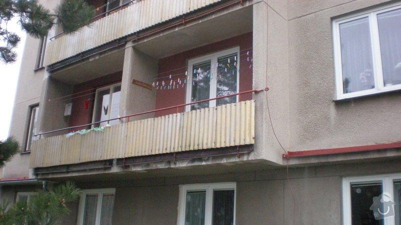 Nátěry balkonů-lodžií na bytovém domě včetně nátěrů balkonového zábradlí: PC010174