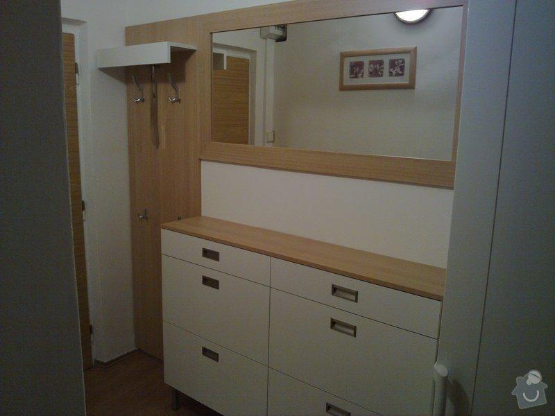 Výroba stěny a botníku v předsíni panelového bytu: 002