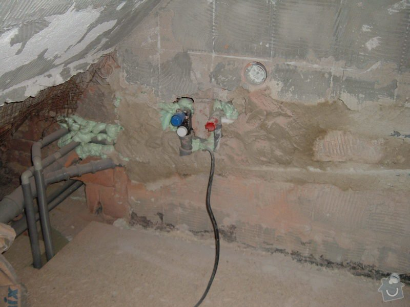 Obkladačské práce - koupelna: DSCF2394