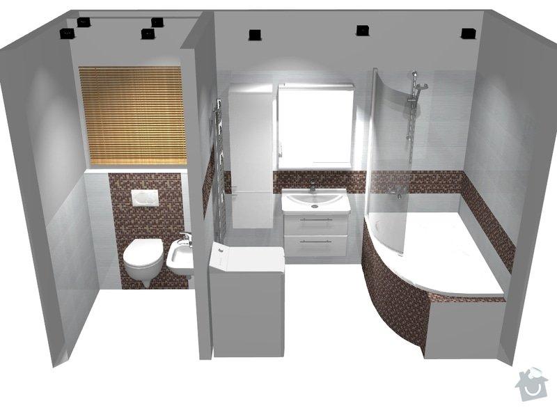 Rekonstrukce bytového jádra v Brně Bohunicích: pohled1