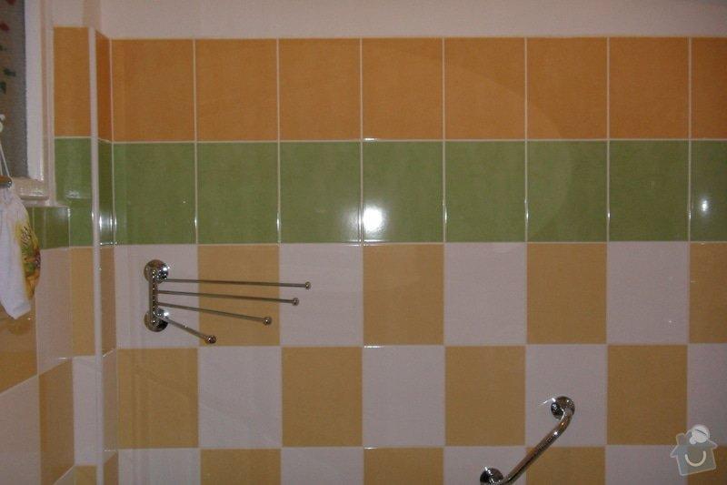 Obkladačské práce (koupelna, WC, obložení stěny za kuchyňskou linkou a dřezem): SAM_0742