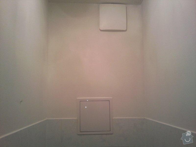 Renovace omítek a stropů+malování na bílo chodba+koupelna+wc: Fotografie215