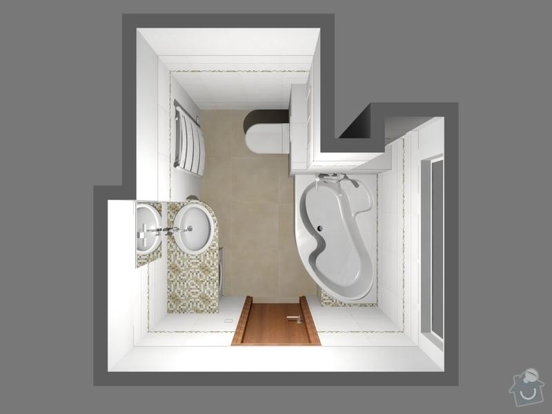 Rekonstrukce bytu 2 + 1 ve 2. NP: Zhai_koupelna_3D_1