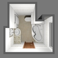 Rekonstrukce bytu 2 1 ve 2 np zhai koupelna 3d 1