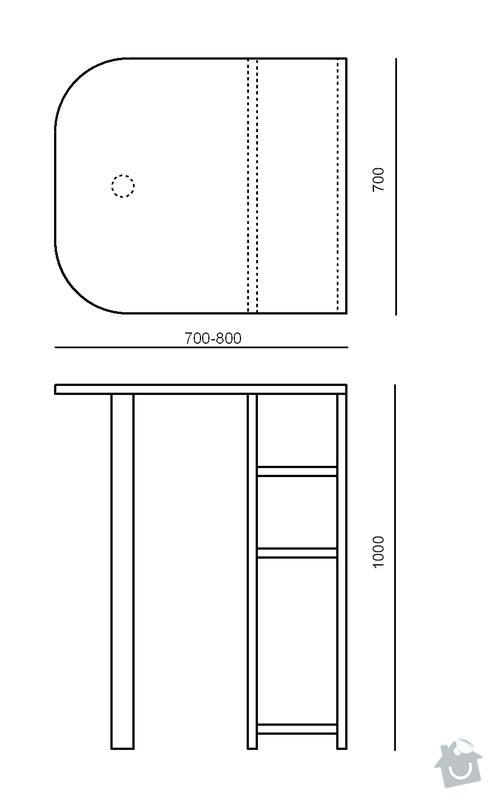 Výroba pultu (stolku) pod monitor: PC_pult