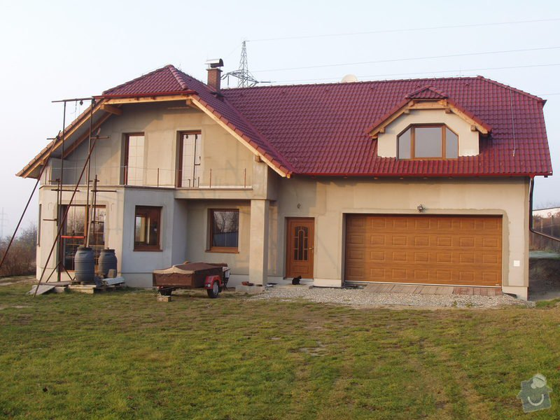 Podbití střechy na novostavbě RD cca 100m2: 167