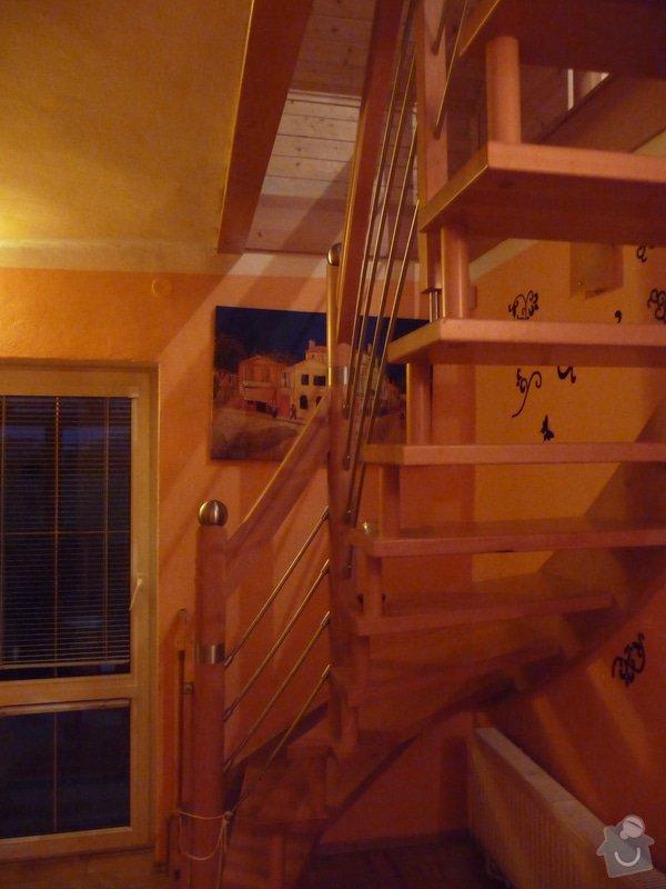 Dubové schodiště s nerezovým zábradlím : P1050512