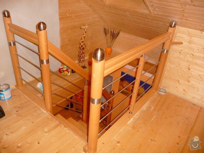Dubové schodiště s nerezovým zábradlím : P1050517