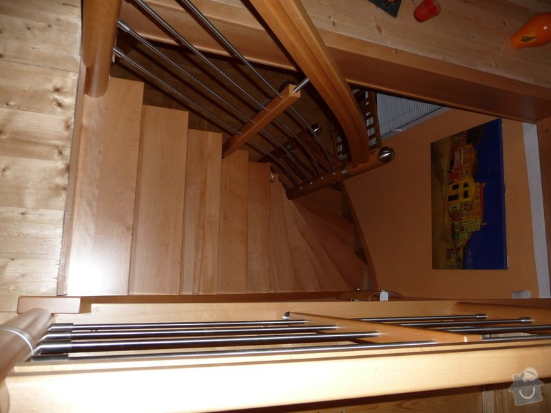 Dubové schodiště s nerezovým zábradlím : P1050518