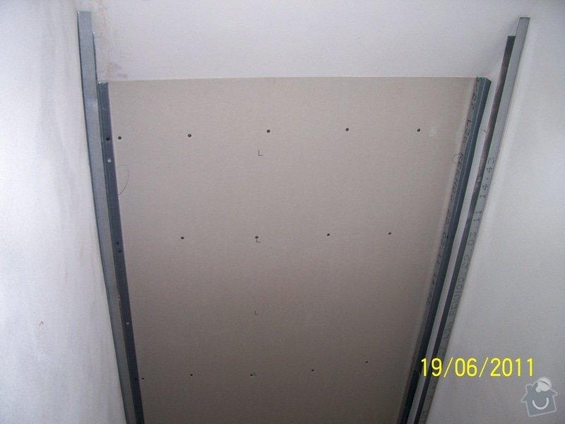 Sádrokartonářské obklady-stropy, stěny, podkroví, schody: 100_6025