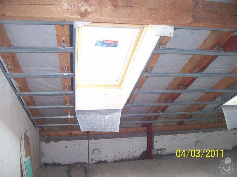 Sádrokartonářské obklady-stropy, stěny, podkroví, schody: 100_5371