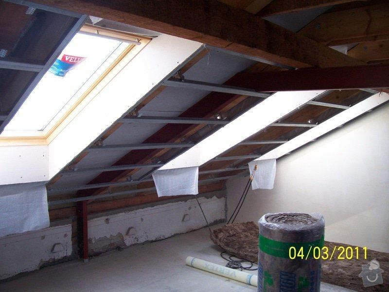 Sádrokartonářské obklady-stropy, stěny, podkroví, schody: 100_5372