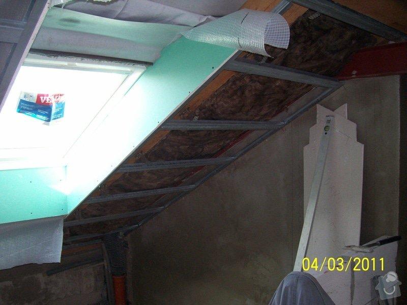 Sádrokartonářské obklady-stropy, stěny, podkroví, schody: 100_5374
