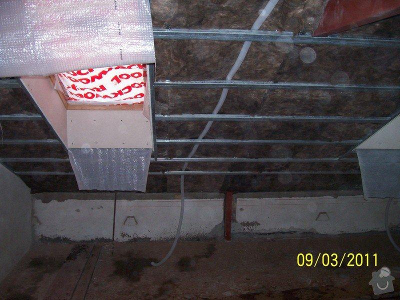 Sádrokartonářské obklady-stropy, stěny, podkroví, schody: 100_5376